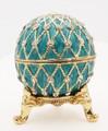 "Egg ""Net"" - Blue II | Faberge Style Egg"