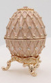 Egg Box with Grid - Cream | Faberge Style Egg