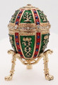 Egg with Clock Surprise  | Faberge Style Egg