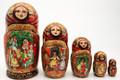 Nutcracker by Marina Rodionova - Red Shawl | Fine Art Matryoshka Nesting Doll