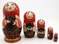 Girl with Green Apple | Fine Art Matryoshka Nesting Doll