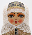 Zhostovo Tray Doll by Churkina-Rolina | Unique Museum Quality Matryoshka Doll