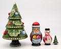 Matryoshka Christmas Tree - 4 Nest | Traditional Matryoshka Nesting Doll