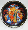 Frog-Princess Palekh Decorative Plate Large - Russian Souvenir