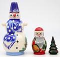 Snowman - Blue Hat | Traditional Matryoshka Nesting Doll