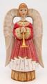 Hand-carved Angel - Pink Dress