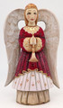 Hand-carved Angel - Burgundy Dress