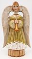 Hand-carved Angel - Olive Dress