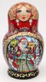 Magic Christmas Season Matryoshka 5 Piece