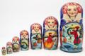 Emelya and Magic Pike | Fine Art Matryoshka Nesting Doll