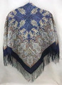 Russian Pavlovo Posad Shawl - At the Dark Blue Sea