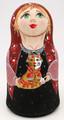 Green Eyed Matryoshka with Cat | Fine Art Matryoshka Nesting Doll