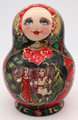 10 Piece Village Scenes   Fine Art Matryoshka Nesting Doll