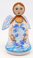 Hand Carved Little Angel - White Dress