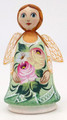 Hand Carved Little Angel - Green Dress