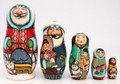 Alaskan Santa with Dog Sled | Alaska Theme Matryoshka Nesting Doll