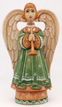 Hand-carved Angel - Green Dress
