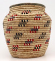 Native American Yupik Woven Open Top Basket - Hand Woven Basket