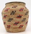 Native American Yupik Woven Open Top Basket - Hand Woven Basket