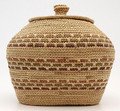 Native American Yupik Woven Scammon Bay Basket - Hand Woven Basket