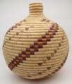 Native American Yupik Woven Basket Tununak by Barbara Albert - Hand Woven Basket