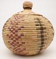 Native American Yupik Woven Large Basket - Hand Woven Basket