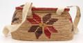 Native American Yupik Woven Lidded Basket-Purse - Hand Woven Basket