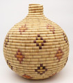 Native American Yupik Basket Tununak by Barbara Albert - Hand Woven Basket