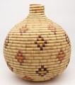 Native American Yupik Basket Tununak by Barbara Albert - Hand Woven Basket