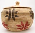 American Native Yupik Woven Large Basket - Hand Woven Basket