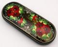 Russian Eyeglass Case - Red Flowers