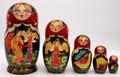 Village Scenes 5 Piece II | Fine Art Matryoshka Nesting Doll