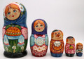 Bread and Salt 5pc Nesting Doll | Traditional Matryoshka Nesting Doll