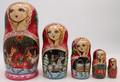 Russian Troika Matryoshka 5pc | Traditional Matryoshka Nesting Doll