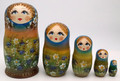 Forget-Me-Not Flowers Girl | Fine Art Matryoshka Nesting Doll