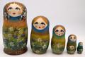 Forget-Me-Not Flowers Girl   Fine Art Matryoshka Nesting Doll
