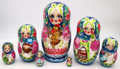 Village Scenes 7 Piece | Traditional Matryoshka Nesting Doll