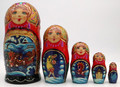 Winter Troika and General Toptygin | Fine Art Matryoshka Nesting Doll
