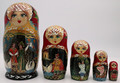 Frog-Princess Matryoshka 5pc | Traditional Matryoshka Nesting Doll