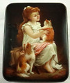 Girl with a Kitty  | Fedoskino Lacquer Box