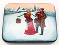 Winter Village Scenes II | Fedoskino Lacquer Box