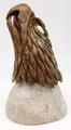 Eagle Head by Aaron Barrett | Bronze and Soapstone