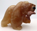Agate Bear  | Bronze and Soapstone