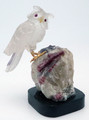 Brazilian Hand-Carved Gemstone Owl | Gemstone Carvings