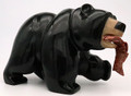 Black Bear with Alabaster nose | Bronze and Soapstone