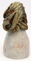 Eagle with Head Down by Aaron Barrett - Small | Bronze and Soapstone