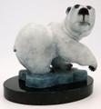 Bronze Bear by Jon Pust   Bronze and Soapstone