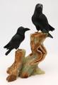 Black Onyx Raven on Aragonite Base | Gemstone Carvings