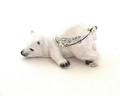 Snoozy Polar Bear Miniature | Bejeweled Enamel Boxes