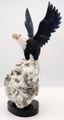 Sodalite Bald Eagle on Calcite Base | Gemstone Carvings
